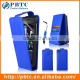 Set Screen Protector Stylus And Case For Blackberry Z10 , Dark Blue Leather Wallet Fashion Phone Case