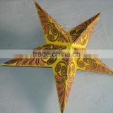 glitter printed paper star lamps new 2014 model