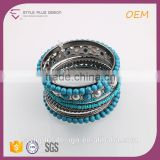 G68664H01 Magnetic Silicon Green Resin Stone Hematite Bracelet From Mid Night City Collection