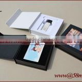 Elegant Empty USB flash Drive Credit Card Packaging Gift Box