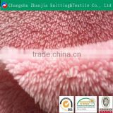 2016 hotsale pink customized plain coral fleece fabric from china factory ZJ077