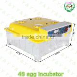 CE Certified Newest Design Transparent 48 Eggs poultry incubator machine used chicken incubator for sale