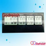Plastic lcd digital wall clock