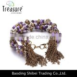fashion jewelry hot selling multi-layer simple and elegant zinc alloy fashion jewelry bracelets