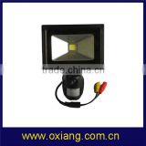 Hotest selling IP65 10W cob pir sensor black housing led flood light
