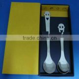2014 stainless steel baby spoon and fork set