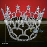 star rhinestone tiara full round large pageant crown