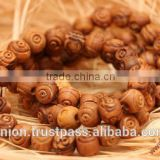 Olive Wood Carved Round Beads