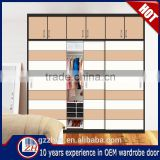 Home furniture bedroom wardrobe door design closet sliding door wooden wardrobes cabinet modern model PVC wardrobe door