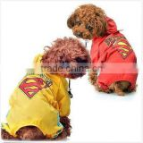 Pet Dog Raincoat Superhero Jacket Jumpsuit Cat Puppy Coat Waterproof Clothing Big