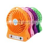 2016 Promotional Gift Iitems Rechargeable Fan Flexible Mini Fan Portable Mini Fan Wholesale Price