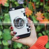 Korea Camera Phone Case for iPhone 6 6s 6s Plus Soft TPU Silicone With Long Strap Rope Back Cover for iPhone 6s