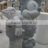 G654 China natural sesame black granite stone street craft carving outdoor mailbox