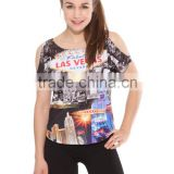2015 New Arrival t-shirt Fashionable and Beautiful T-shirt for Women sublimation t-shirt