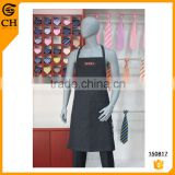 Polyester Black Self Tie Apron