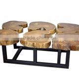 Funky wood coffee table industrial Furniture home decor