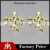 Fashion 18k gold plated tree branch shape stainless steel jewelry findings &components