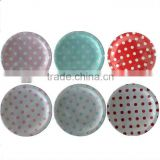 wholesale 2400 x boutique partyware 7 inch/18cm Round Party Paper Cake Plates Polka Dot Blue Pink Red in 6 colors, Free Ship