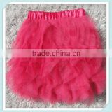 girls ballet tutu skirt plain tutu dress wholesale ruffles colorful pettiskirts tutu for kids hot pink fluffy chiffon skirts