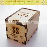 Exclusive Design wooden essential oil storage box wooden packing gift box wholesale with single grid