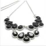 Black Stone Fashion Necklace Designs