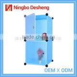 Assemble DIY storage cube bedroom plastic portable wardrobe closet cabinet