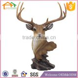 Factory Custom made best home decoration gift polyresin resin deer taxidermy animal heads