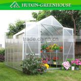 china newest ggrey colour for foldable portable commercial polycarbonate greenhouse HX65126-1