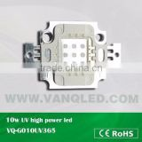 10w UV high power led 365nm,380nm,400nm led for uv flatbed printer