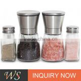 WS-PP12 Premium Salt and Pepper Grinder Set (set of 2) with FREE Salt and Pepper Shakers (set of 2)