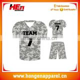 Wholesale customized camo american football uniforms best quality manufacture/college football jerseys cheap