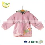 Summer plain high quality long sleeve plain baby hooded sweatshirt
