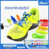 Hot Selling Flexible No-Tie Elastic Easy to Untie Shoe Lace~Available in 10 colors~Accept Custom