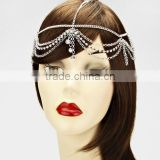 Multi Layers Rhinestone Crystal Tassel Headband Head Piece Hair Band Head Chain Jewelry