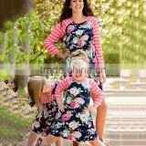 Striped Printing Mother and Child Matching Clothing