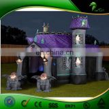 New Products Light Up Halloween LED Lighting Inflatable Halloween Ghost House PVC Halloween DecortationProducts