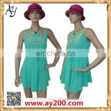 African clothing manufacturers OEM service Stunning camel mini dress lady fashion dresses for women
