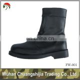 military black rubber sole boots
