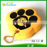 Paw Print Shaped Floating Keychain
