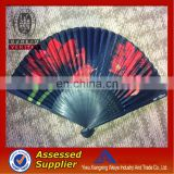 2014 bamboo hand cloth fan wholesale