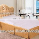 100% polyester bed skirt,hotel bedding skirt