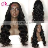 Wholesale price indian long hair wig body wave cheap silk base lace front wig for black women