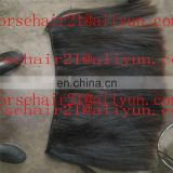Hot selling 100% natural straight rocking horse hair tail /horse hair weft sale