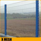 Vinyl Coated 3D Curved Wire Mesh Fence Panel For Courtyard