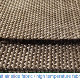 Polyester textile air slide fabric 4-8mm thickness, width 260mm used in bulky powder transport