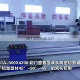 High precision double head mitre saw aluminum section cutting machine