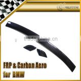 For BMW E46 Carbon Fiber Sedan 4 Drs Rear Lip Spoiler (3Pcs)