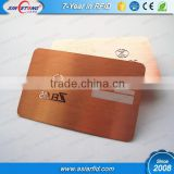 Rose gold Laser engraving brushed metal business card / stainless steel card with signature panel, China Manufacturer