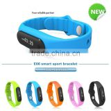 Smart Bracelet Passed CE&Rohs&FCC certificate Touch screen Operated IP67 Waterproof Smart Bluetooth Bracelet 2015(E06)