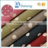 wholesale stock high quality dots cotton printed polyester /cotton calico printed lining fabric for pillows